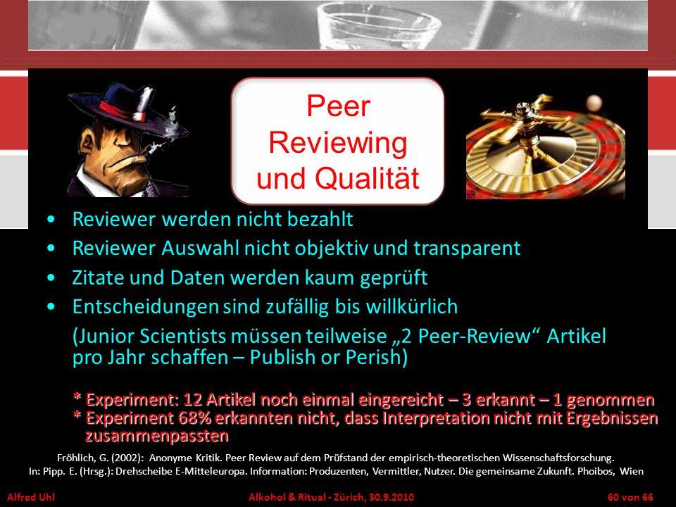 Peer Reviewing und Qualität