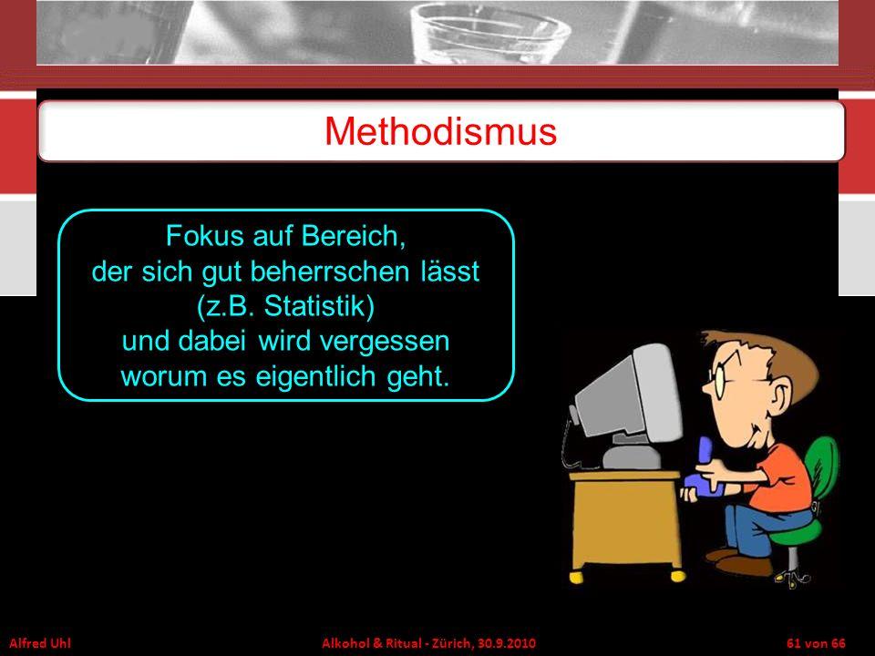 Methodismus Fokus auf Bereich, der sich gut beherrschen lässt (z.B.