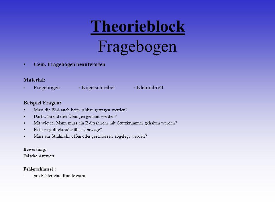 Theorieblock Fragebogen