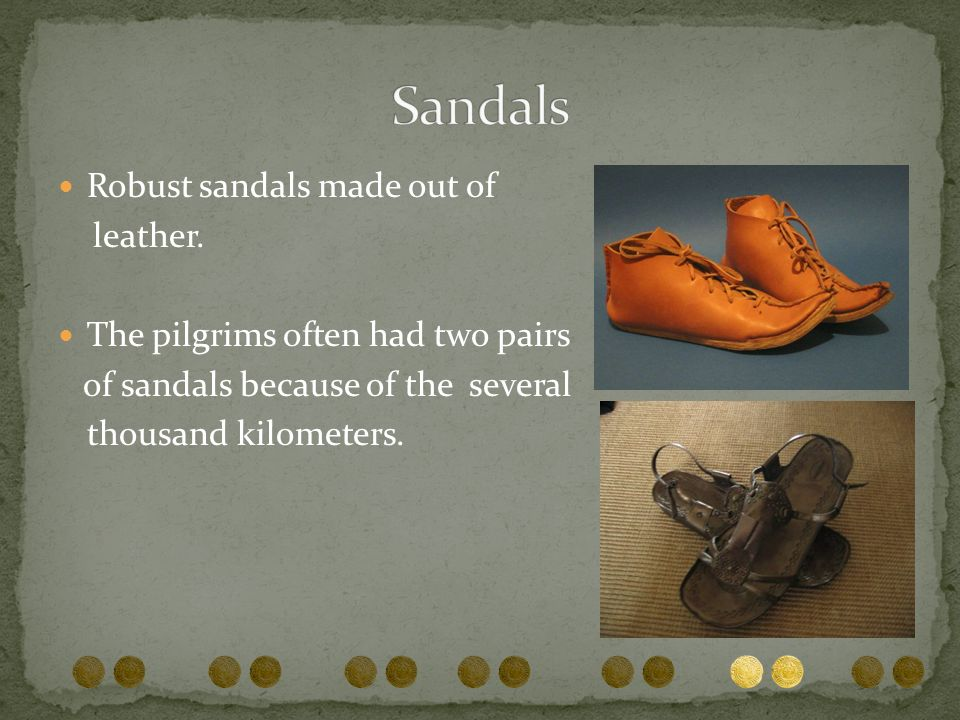 Sandals Robust sandals made out of leather.
