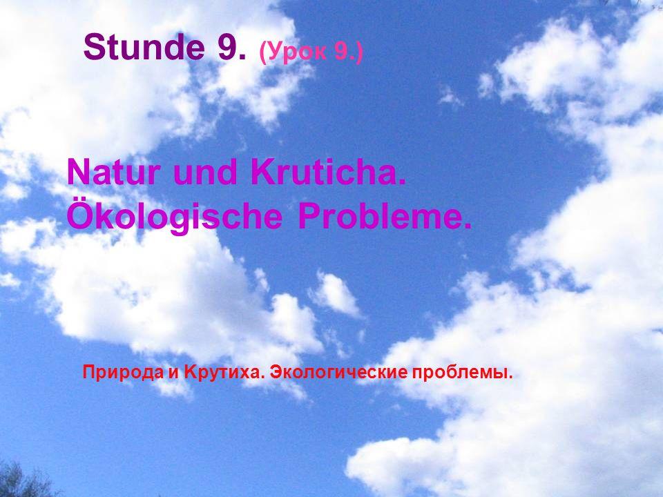Natur und Kruticha. Ökologische Probleme.