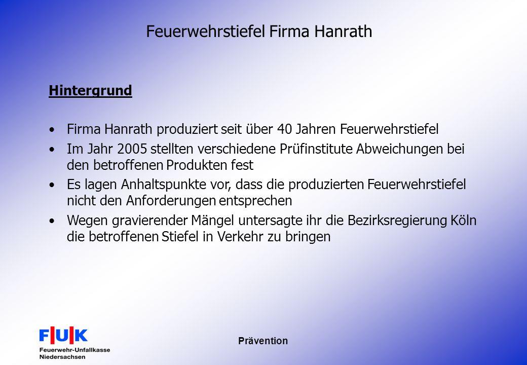Feuerwehrstiefel Firma Hanrath