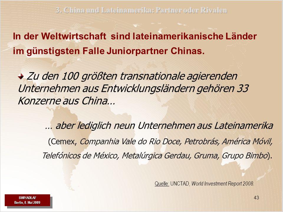 3. China und Lateinamerika: Partner oder Rivalen