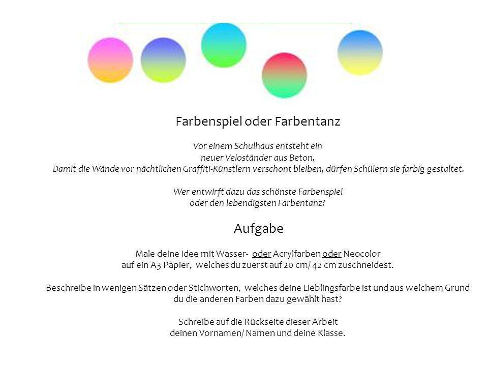 Farbenspiel oder Farbentanz