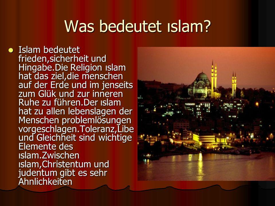 Was bedeutet ıslam