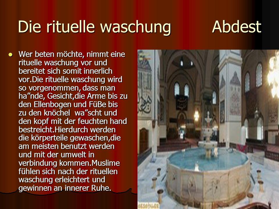 Die rituelle waschung Abdest