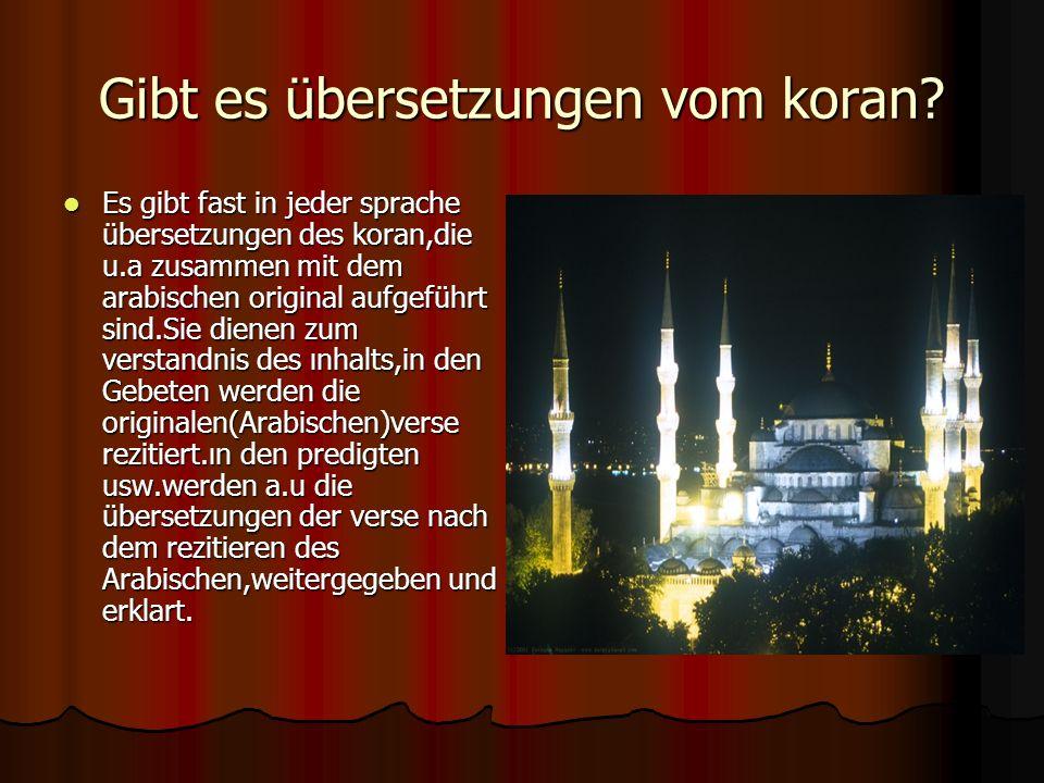 Gibt es übersetzungen vom koran
