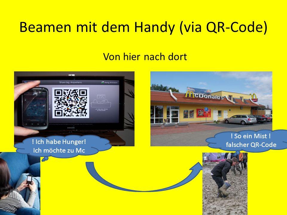 Beamen mit dem Handy (via QR-Code)