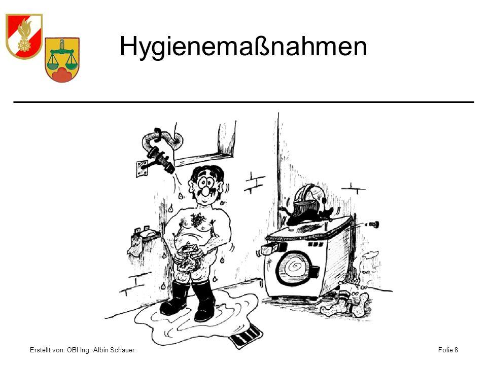 Hygienemaßnahmen Erstellt von: OBI Ing. Albin Schauer