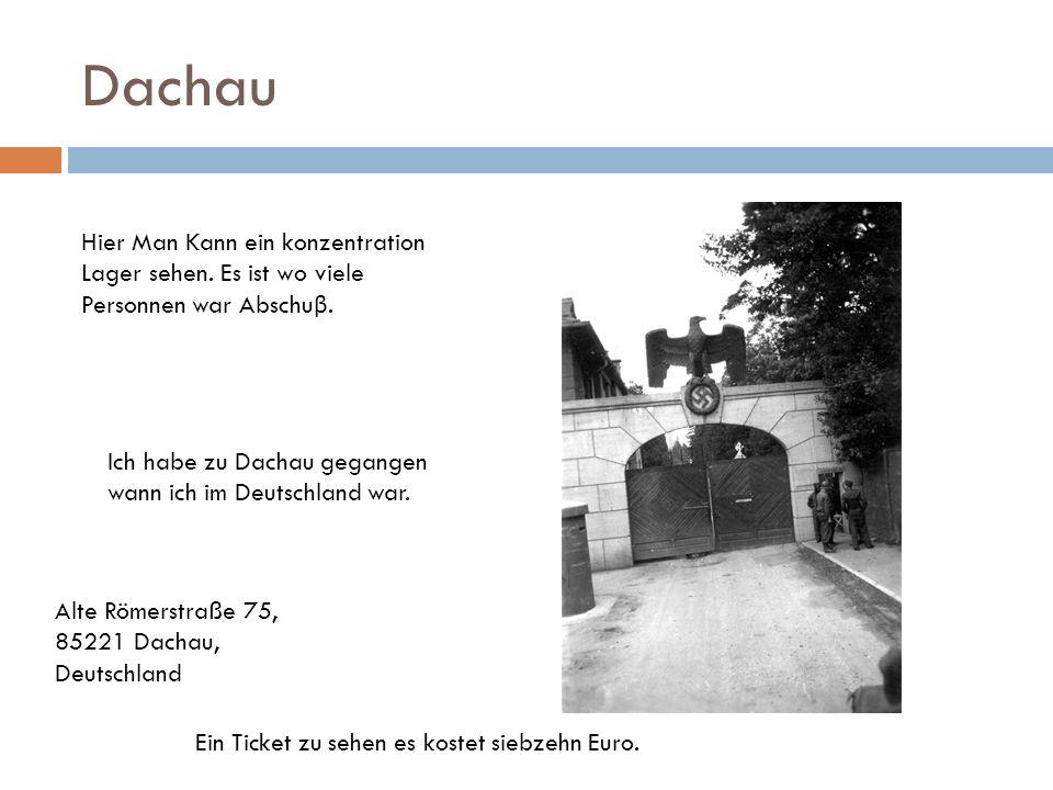 DachauHier Man Kann ein konzentration Lager sehen. Es ist wo viele Personnen war Abschuβ. Ich habe zu Dachau gegangen wann ich im Deutschland war.