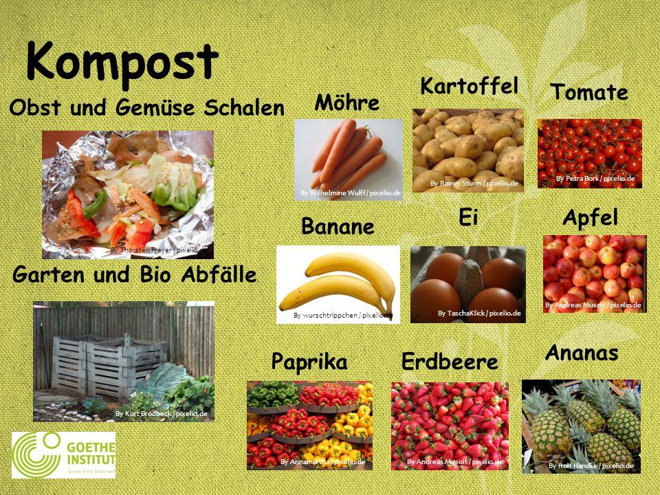 Obst und Gemüse Schalen