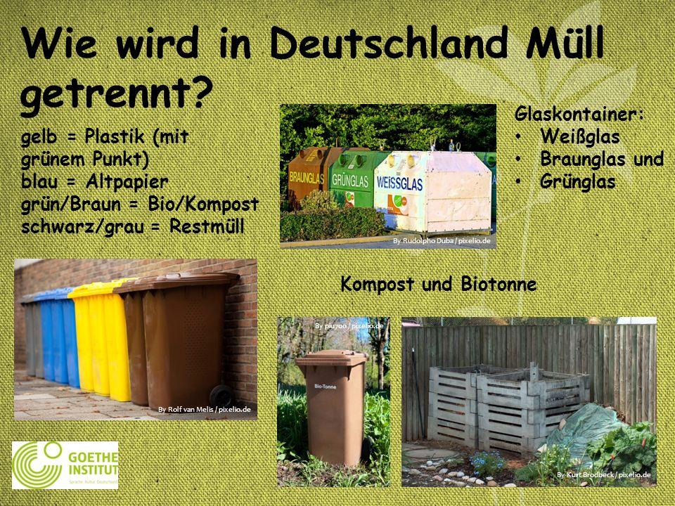 Wie wird in Deutschland Müll getrennt