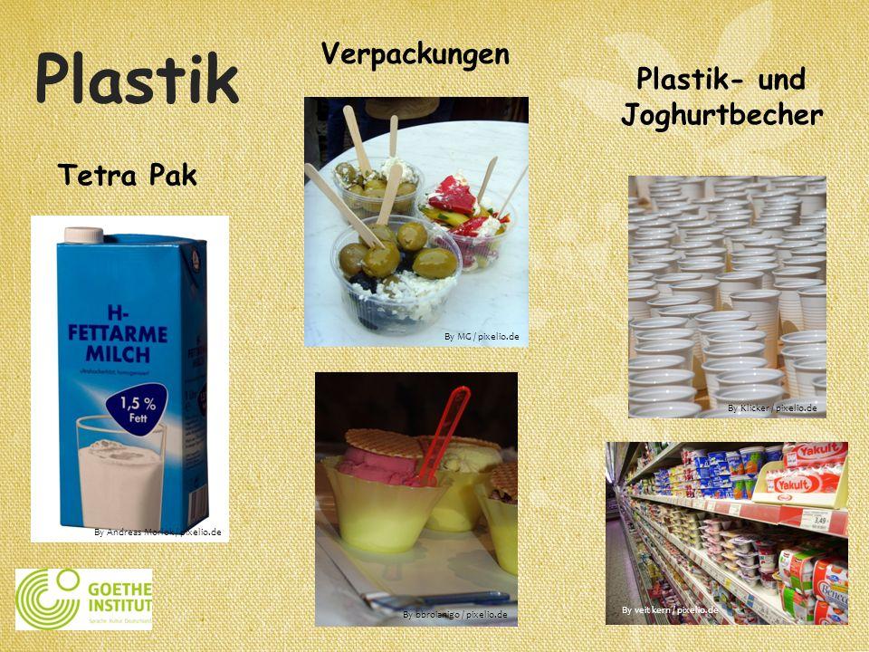 Plastik- und Joghurtbecher