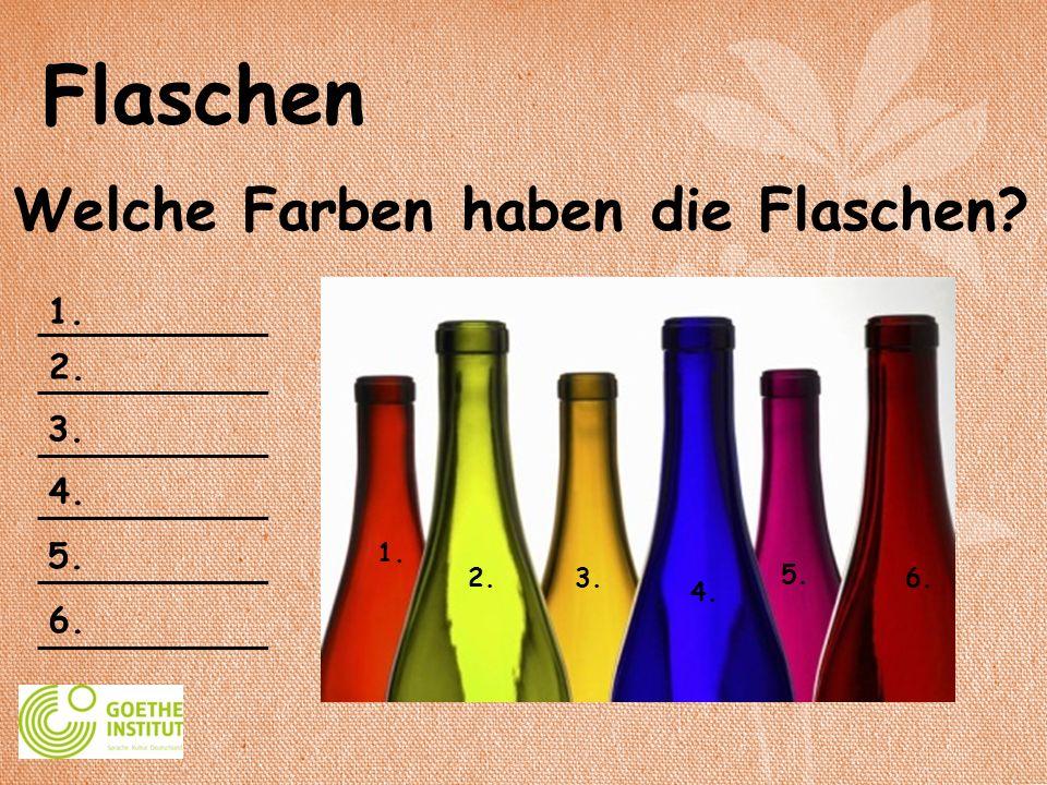 Welche Farben haben die Flaschen