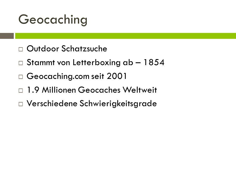 Geocaching Outdoor Schatzsuche Stammt von Letterboxing ab – 1854