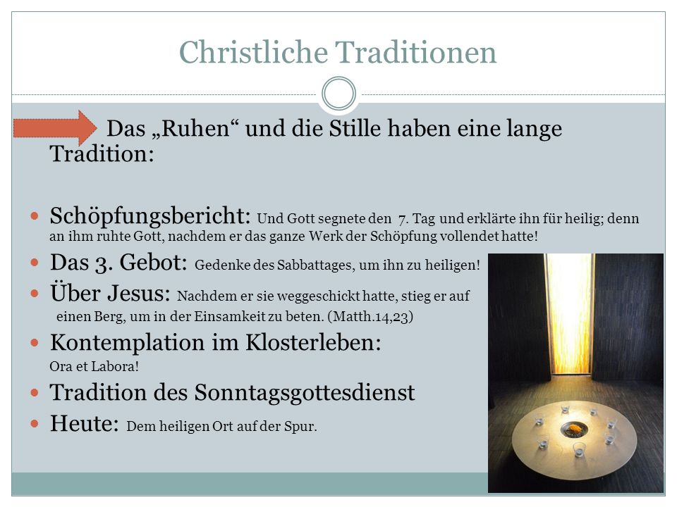 Christliche Traditionen