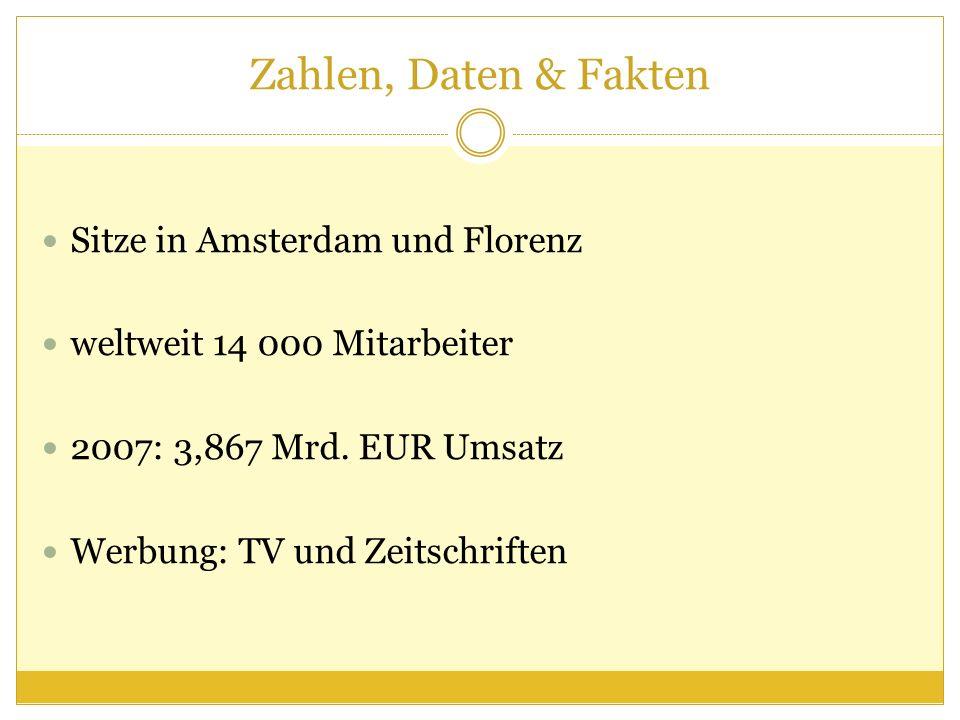Zahlen, Daten & Fakten Sitze in Amsterdam und Florenz