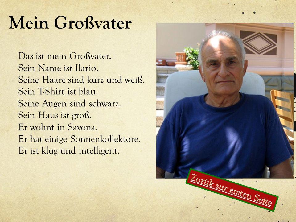 Mein Großvater Das ist mein Großvater. Sein Name ist Ilario.