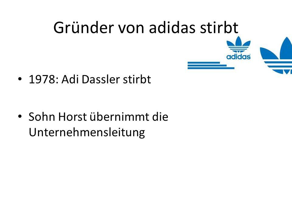 Gründer von adidas stirbt