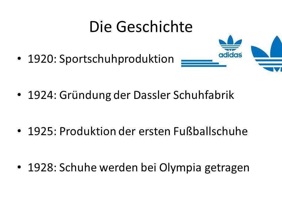 Die Geschichte 1920: Sportschuhproduktion
