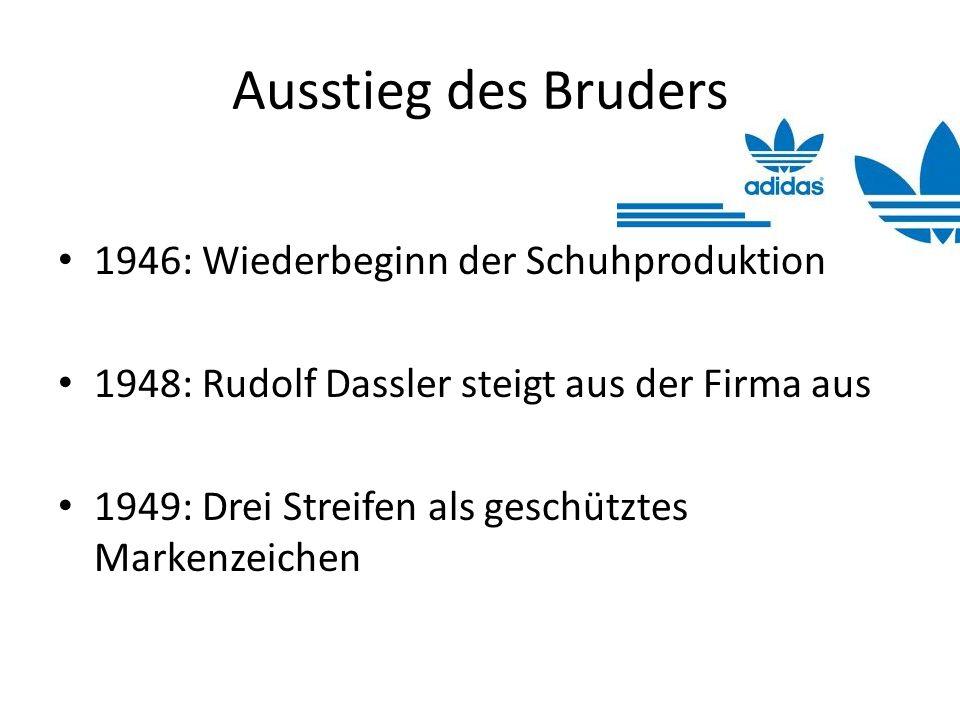 Ausstieg des Bruders 1946: Wiederbeginn der Schuhproduktion