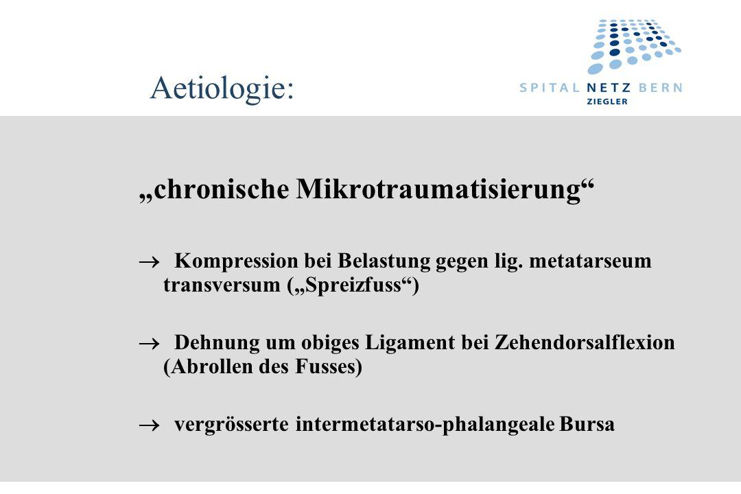 """Aetiologie: """"chronische Mikrotraumatisierung"""