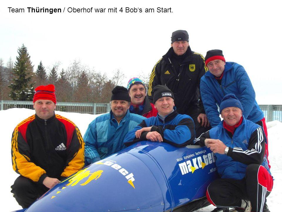Team Thüringen / Oberhof war mit 4 Bob's am Start.