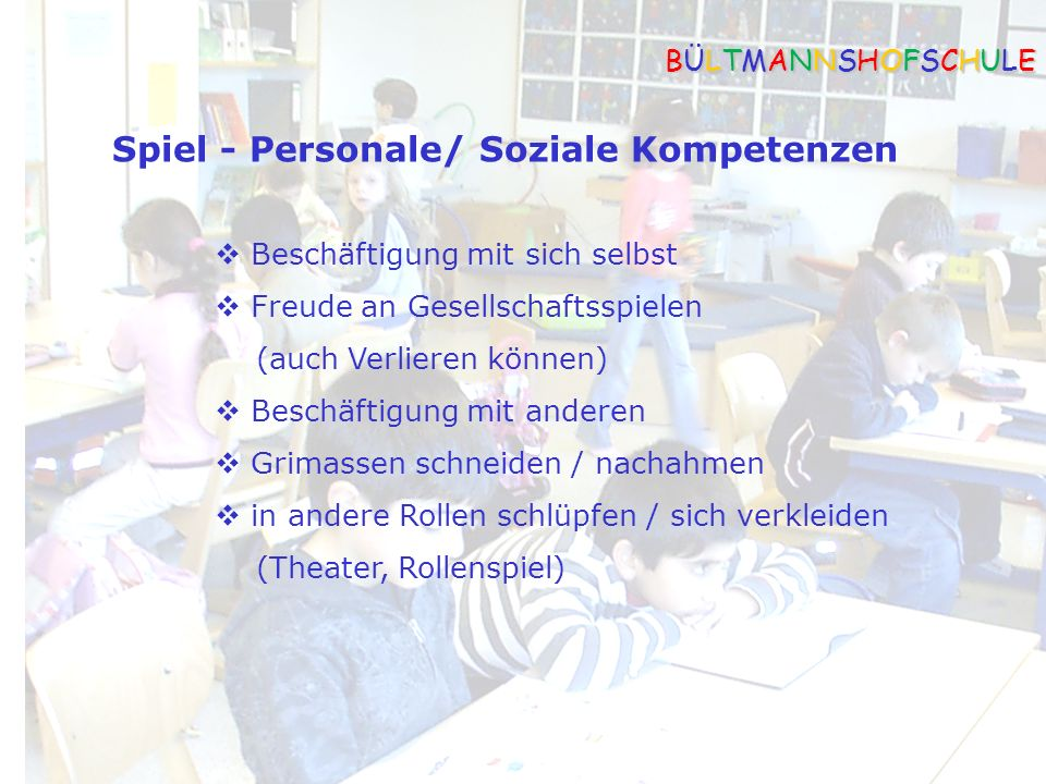 Spiel - Personale/ Soziale Kompetenzen