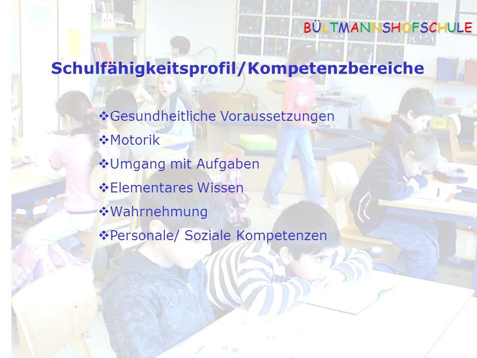 Schulfähigkeitsprofil/Kompetenzbereiche