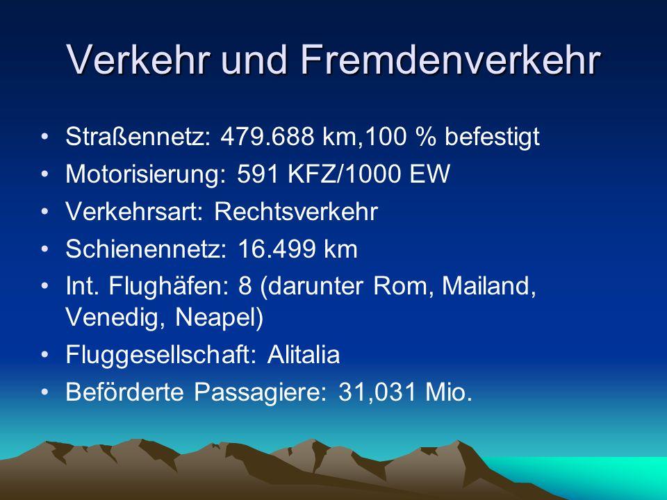 Verkehr und Fremdenverkehr
