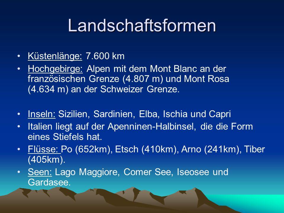 Landschaftsformen Küstenlänge: 7.600 km
