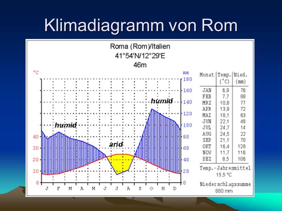 Klimadiagramm von Rom