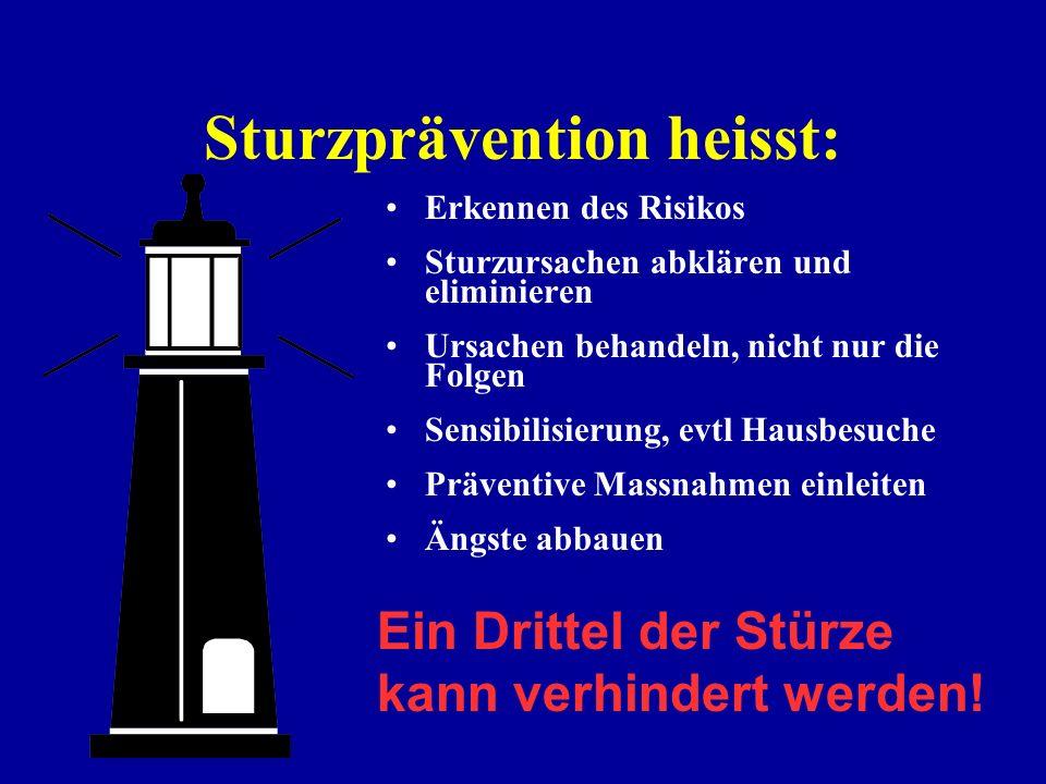 Sturzprävention heisst: