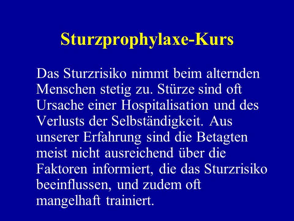 Sturzprophylaxe-Kurs