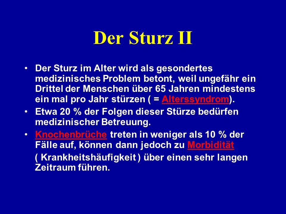 Der Sturz II