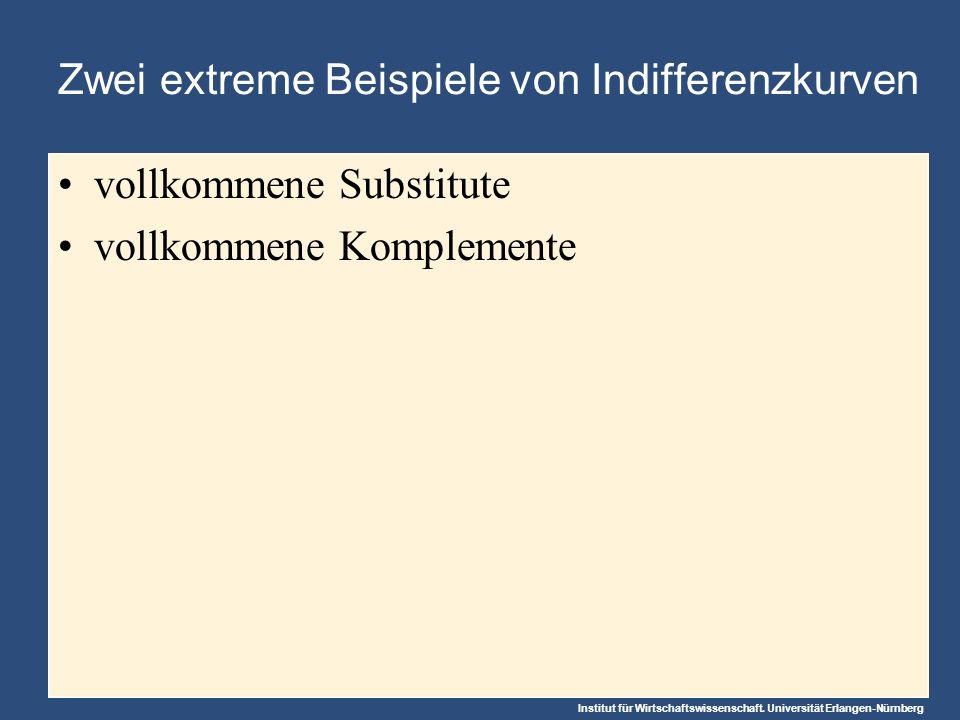 Zwei extreme Beispiele von Indifferenzkurven