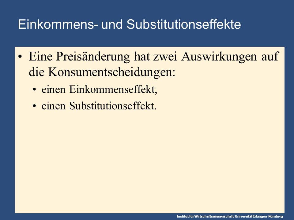 Einkommens- und Substitutionseffekte