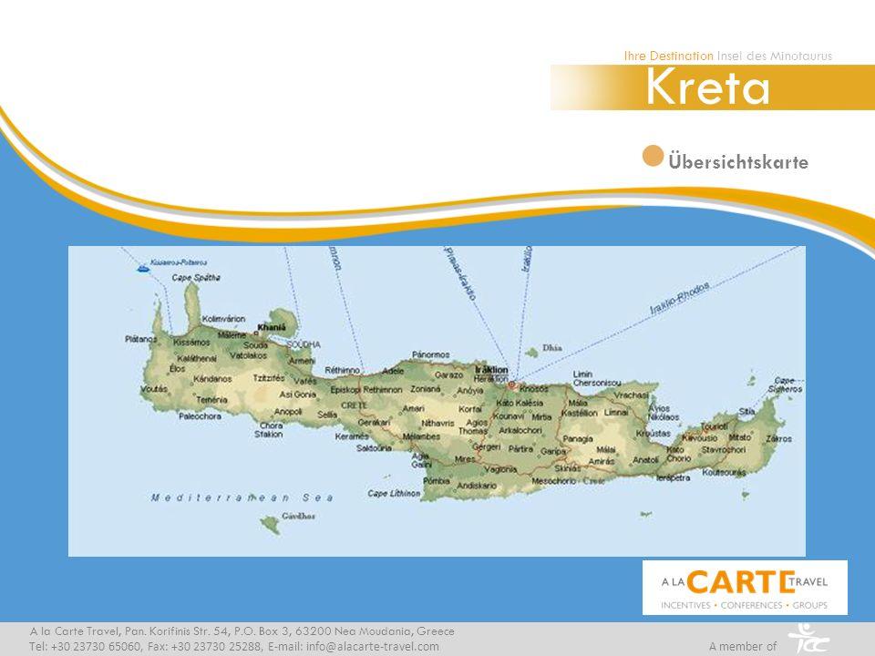 Kreta Übersichtskarte Ihre Destination Insel des Minotaurus