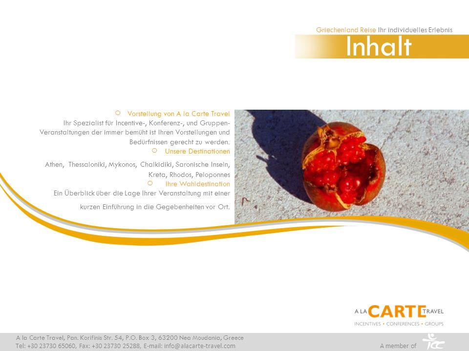 Inhalt Vorstellung von A la Carte Travel