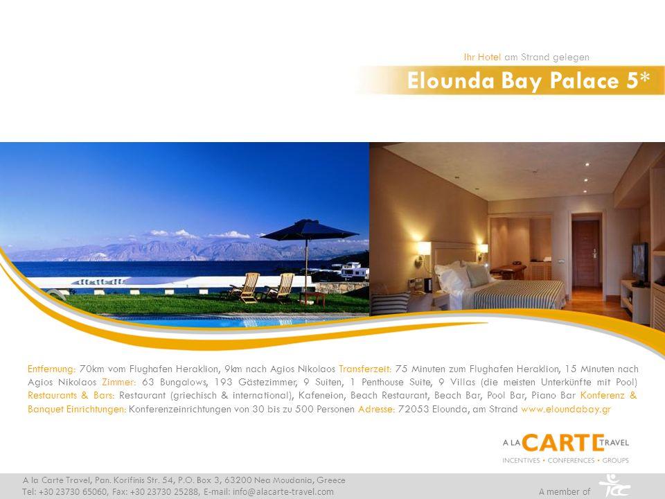 Elounda Bay Palace 5* Ihr Hotel am Strand gelegen
