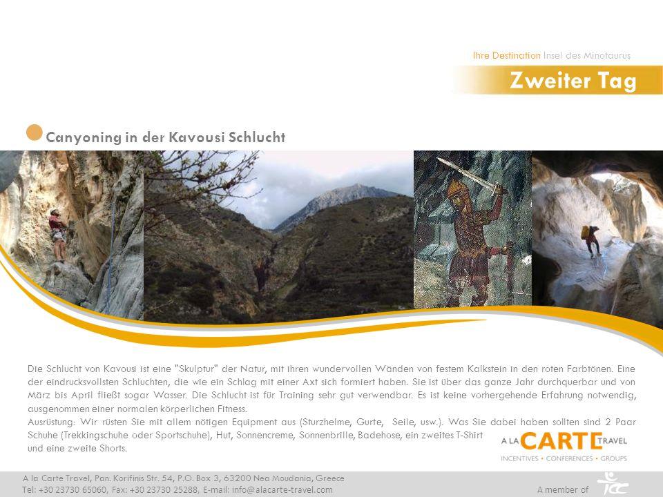 Zweiter Tag Canyoning in der Kavousi Schlucht