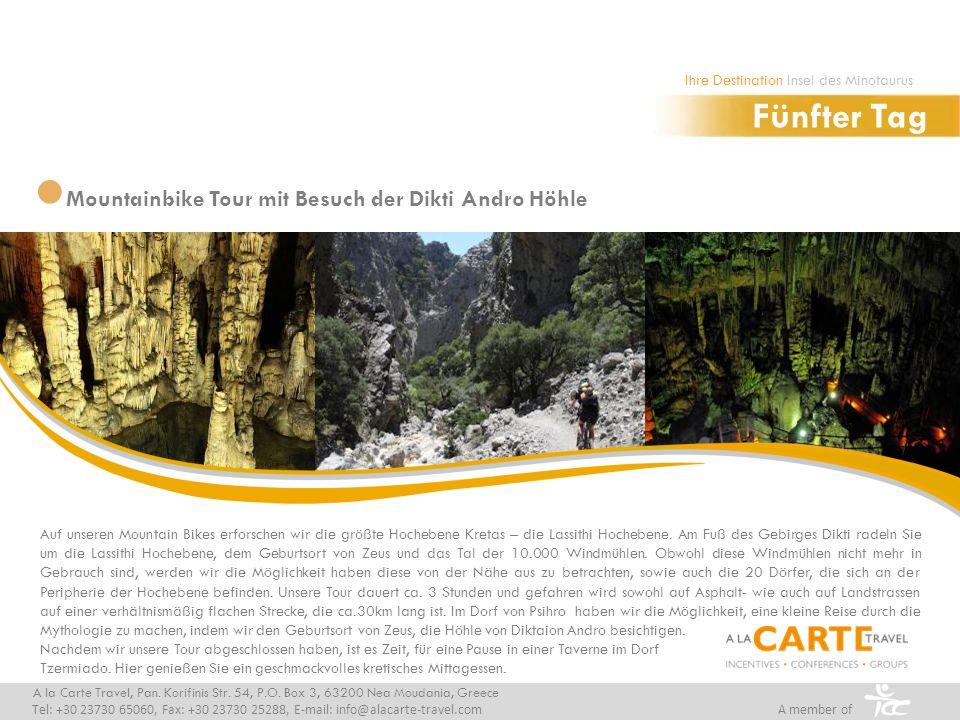 Fünfter Tag Mountainbike Tour mit Besuch der Dikti Andro Höhle