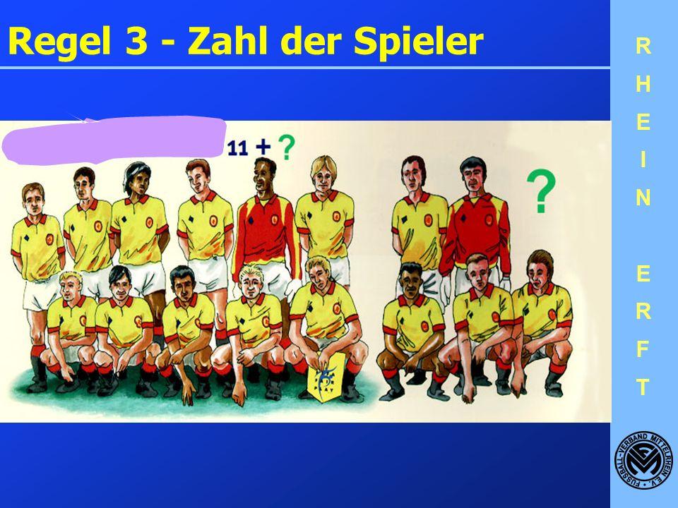 Regel 3 - Zahl der Spieler