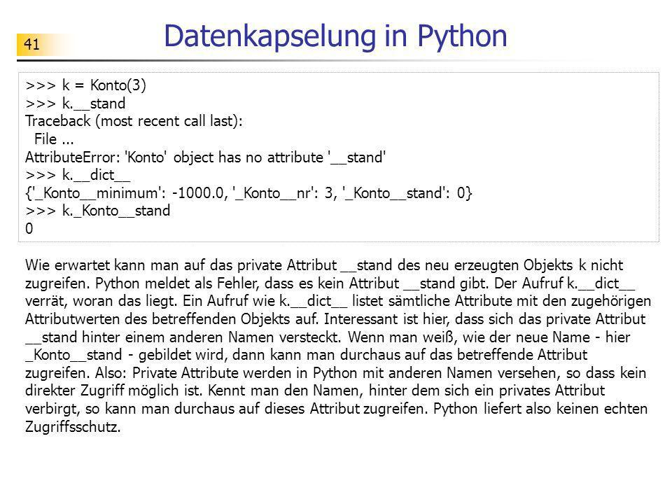 Datenkapselung in Python