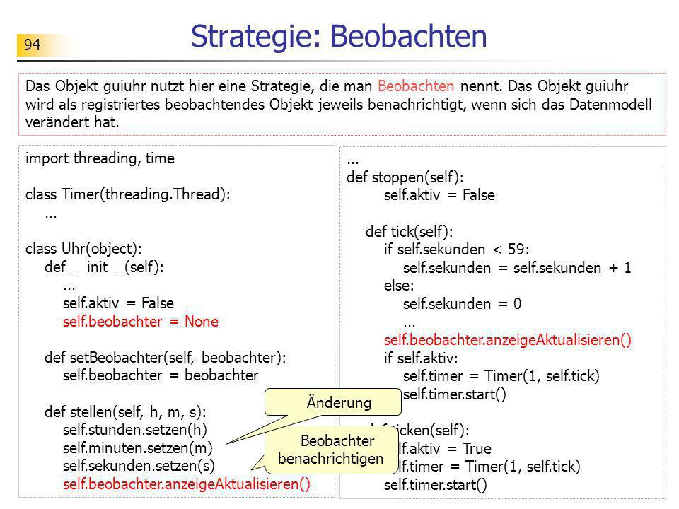 Strategie: Beobachten