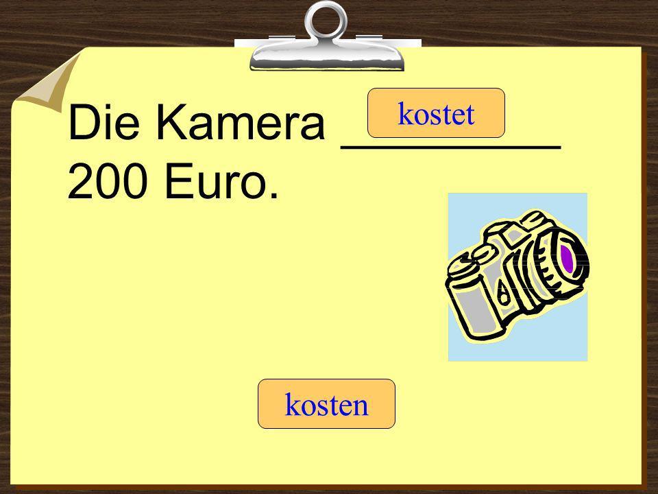 Die Kamera ________ 200 Euro.