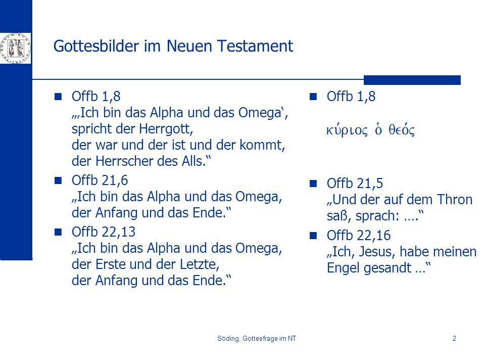 Gottesbilder im Neuen Testament