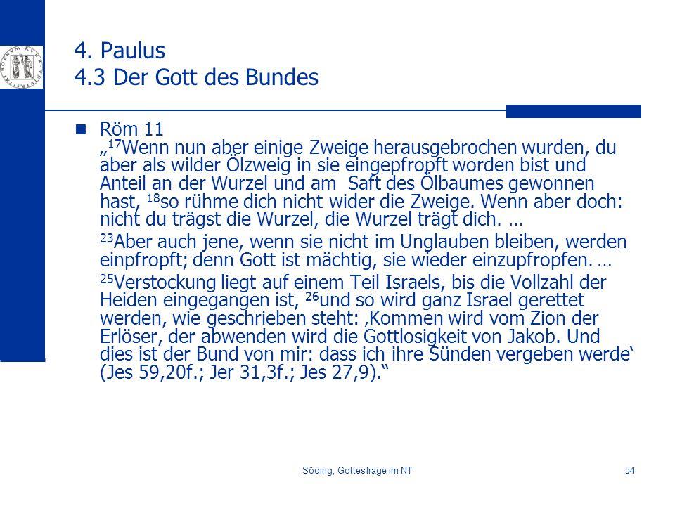 4. Paulus 4.3 Der Gott des Bundes