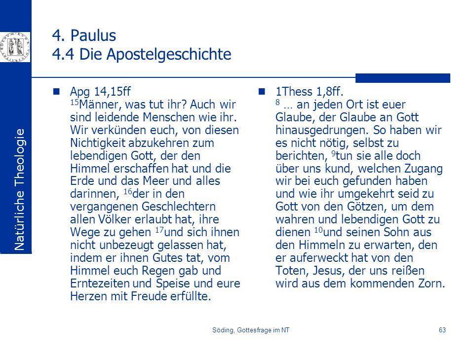 4. Paulus 4.4 Die Apostelgeschichte