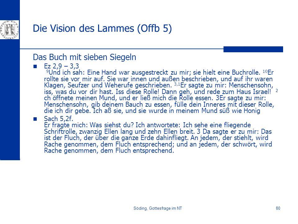 Die Vision des Lammes (Offb 5)